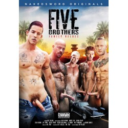 Five Brothers: Family Values DVD Naked Sword Black White